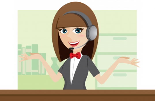 call center agent cartoon